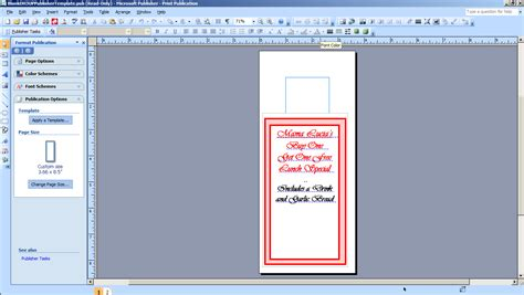 Microsoft Publisher Door Hanger Template How To Print Your Own Valet Parking Tags Burris Computer Forms