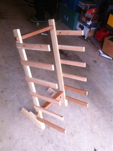 How To Make A Skateboard Rack by Made Skateboard Rack By Moose Time Design
