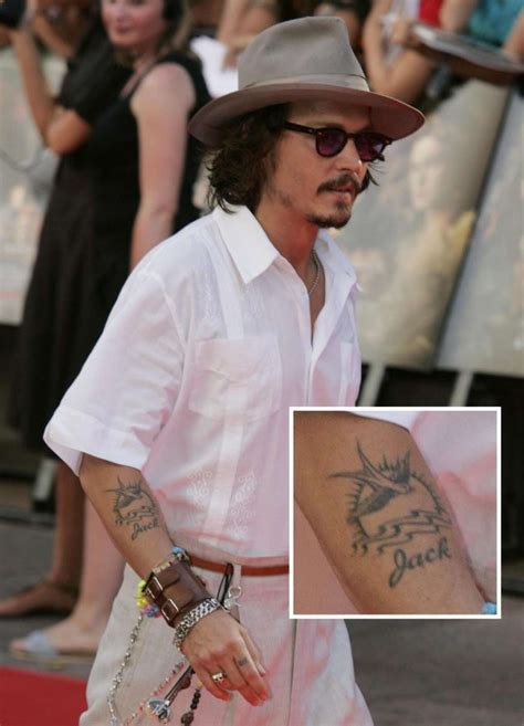 johnny depp tattoo johnny depp tattoos list of johnny depp designs