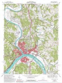 Ohio Topographic Map by Marietta Topographic Map Oh Wv Usgs Topo Quad 39081d4