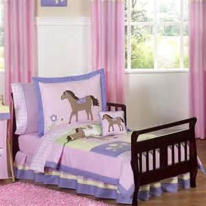 Toddler Bed Set Horses Sweet Jojo Designs 5 Piece Pony Horse Toddler