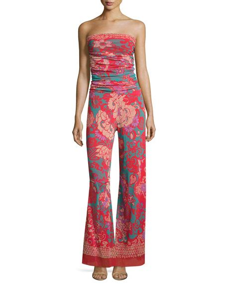 pattern for strapless jumpsuit fuzzi dragonessa strapless tulle jumpsuit pink pattern