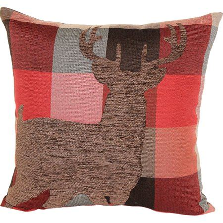 walmart decorative deer outdoor better homes and gardens deer plaid decorative pillow multi color walmart