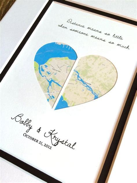 Distance Means So Little Personalized Long Distance Gift