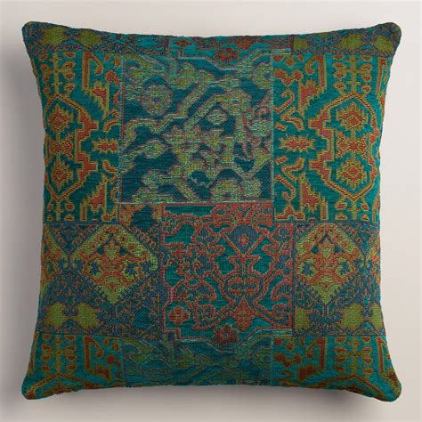 Blue And Green Pillows by Blue And Green Marrakesh Jacquard Throw Pillow World Market