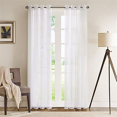 sheer curtains with grommets buy madison park wynn 84 inch grommet top sheer window