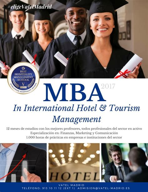 Mba In Tourism And Hospitality Management In Canada by Mba Vatel Madrid Programaidioma Espa 241 Ol Hasta Un 30
