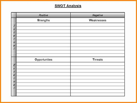 swot excel template swot analysis template excel www imgkid the image