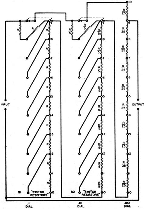 precision decade resistor voltage dividers an accurate voltage divider may 1957 radio tv news rf cafe