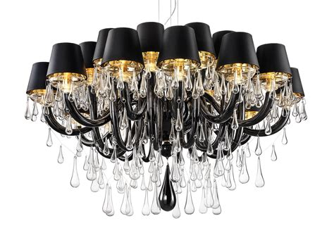 Chandeliers For Foyer Black Modern Murano Chandelier Dmgouttes24k Black With