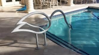 inground swimming pool handrails swan swimming pool handrail
