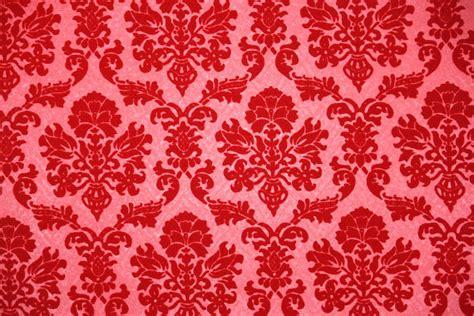 red flock wallpaper gallery