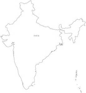 Blank Outline Map Of Ancient India by Black And White India Map