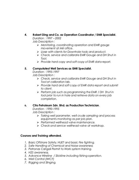 Emr Consultant Sle Resume by Emr Description Emr Resume Thevictorianparlor Co Shipping And Receiving Resume Best Images