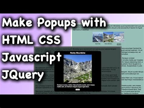 tutorial html script html css javascript jquery webpage popup dialog tutorial