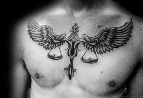 upper chest tattoos 17 libra on chest