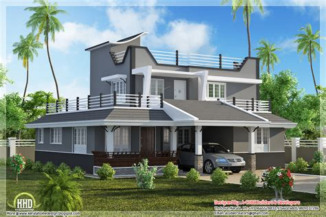 style home contemporary style 3 bedroom home plan kerala home design