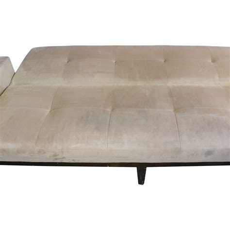 beige futon sofa bed 82 crate and barrel crate barrel beige tufted