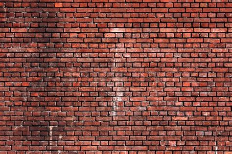 brick wall background city building stock