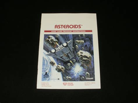 asteroids the atari 2600 journal books asteroids atari 2600 1979 manual only