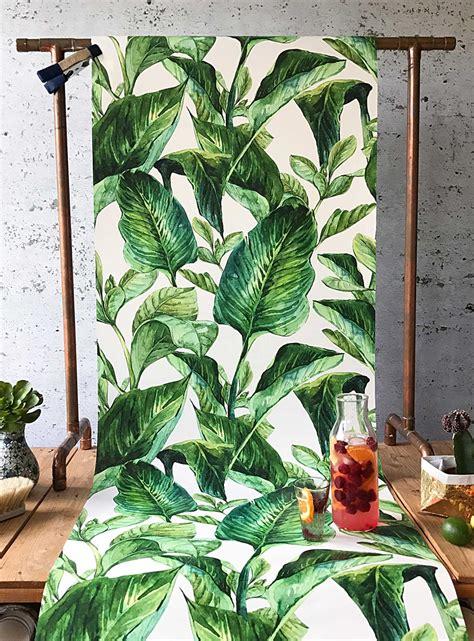 Rideaux Feuillage Tropical by Le Papier Peint Feuillage Tropical Wynil Papiers