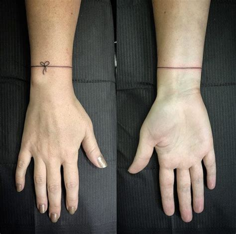 string tattoo 40 beautiful bracelet tattoos for