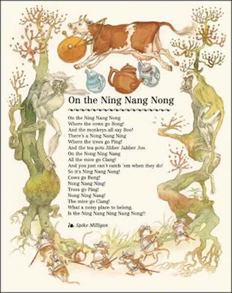 on the ning nang nong poem by spike milligan poem hunter the pictorial arts continuous golden age