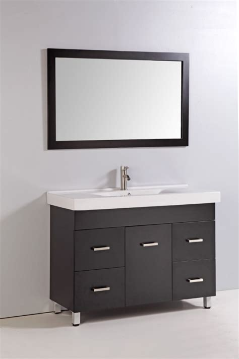 48 inch single sink bathroom vanity with soft hinges