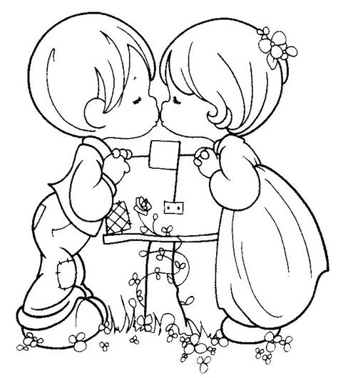 precious moments coloring pages boy girl 22184