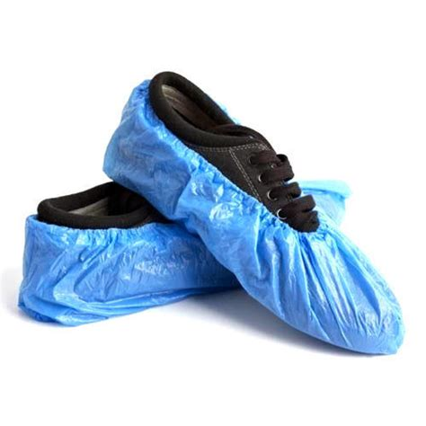 blue plastic shoes cover rs 2 15 pair yash safety