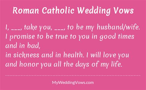 Catholic Wedding Vows by Traditional Catholic Wedding Vowsdating Free