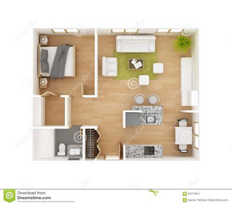 top view floor plan 3d floor plan top view royalty free stock photo