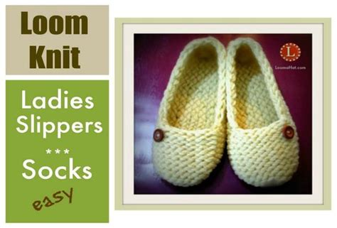 how to loom knit slippers loom knitting slippers socks project step by step for