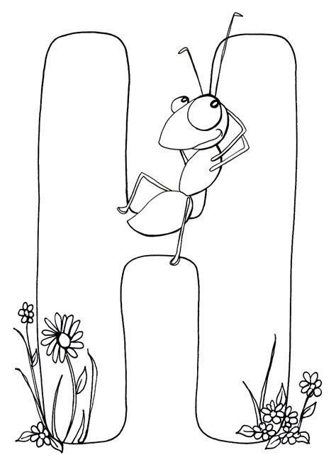 H For Coloring Page by Letter H Coloring Pages For Adults Coloring Pages