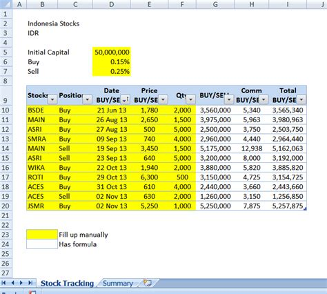 trading spreadsheet template how to buy stocks november 2013