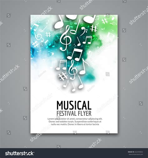 poster design notes colorful vector music festival concert template flyer