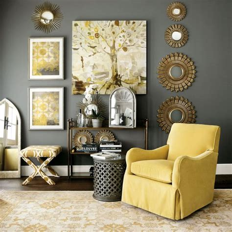 pinterest pictures of yellow end tables with gray picture of rather dark grey wall and a side table sunny