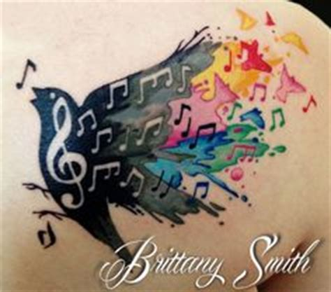 elephant tattoo with music notes bird music note tattoo tattoos pinterest note tattoo