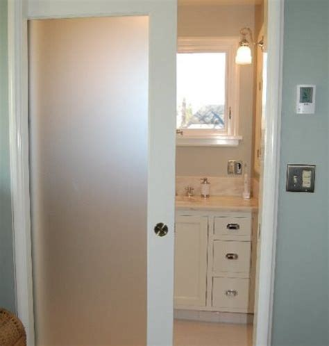 frosted doors for bathroom frosted bathroom door houzz