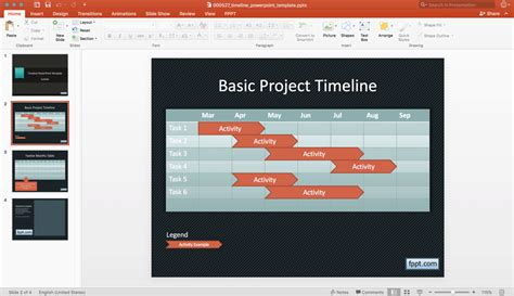 Create A Basic Timeline In Powerpoint Using Shapes And Tables Basic Powerpoint Templates