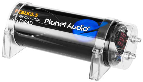 farad audio capacitor pcblk3 5 planet audio
