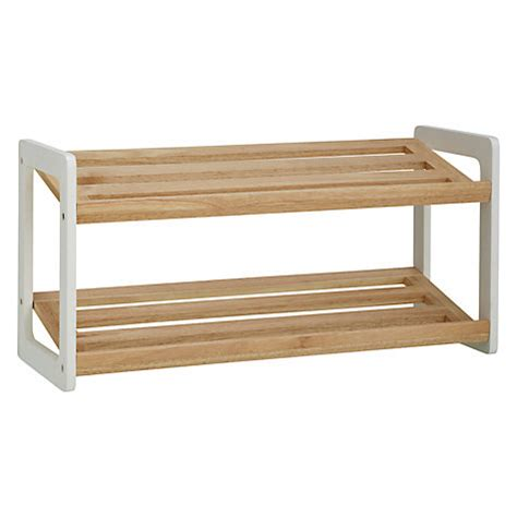 buy house by lewis 2 tier shoe rack wood white