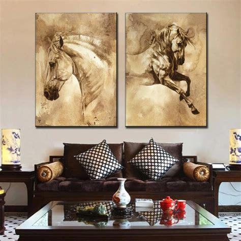 vintage horse room decor horse decorating for the home retro chinese traditional animal horse canvas prints