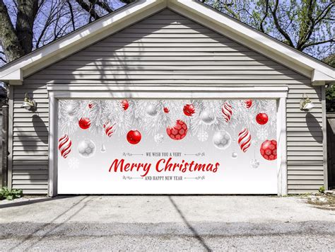 merry christmas garage door cover merry garage door decor home design decorating ideas