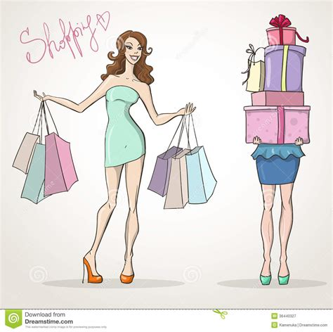 fashion illustration for sale shopoholic shopping fashion sale royalty free stock photography image 36440327