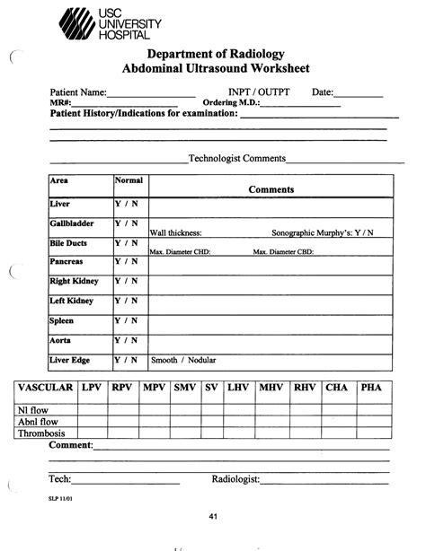 Venous Insufficiency Ultrasound Worksheet The Best And Most Comprehensive Worksheets Veterinary Ultrasound Report Template