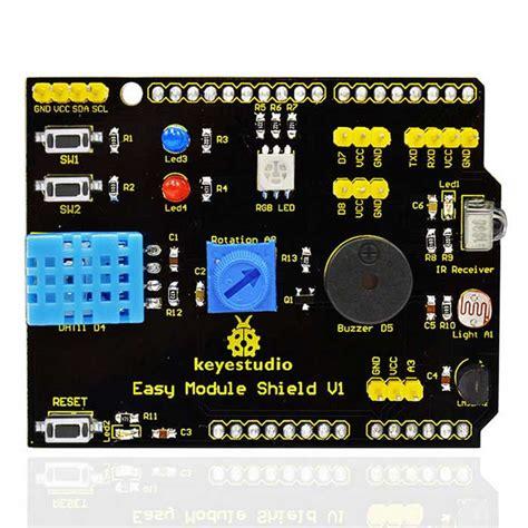 A11082 Multi Function Shield Expansion Board Multifunction For Arduino keyestudio shield v1 multi function expansion board for arduino free shipping dealextreme