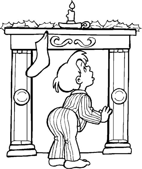 coloring page christmas fireplace christmas fireplace coloring pages