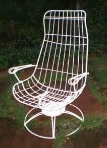 Vintage Homecrest Siesta Lounge Eames Style Iron Chair Iron Vintage Homecrest Patio Furniture