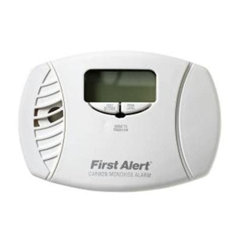 alert in carbon monoxide alarm with digital